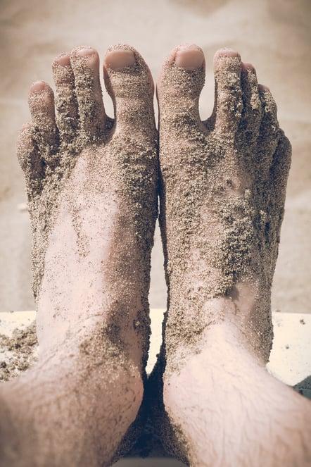 sandy-feet